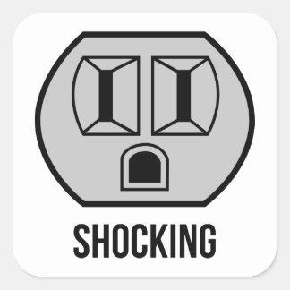 Shocking Square Sticker