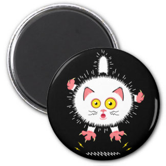 Shockingly Cute Cat 2 Inch Round Magnet