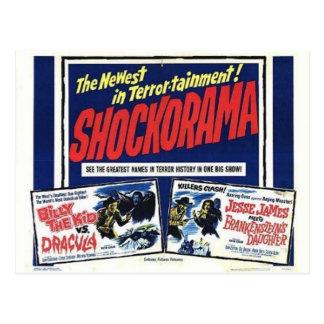 Shockorama double dracula mfrankenstein postcard