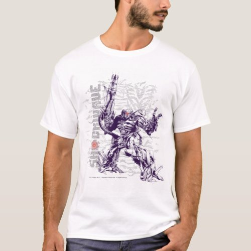 Shockwave Battle Stance Stylized T_Shirt