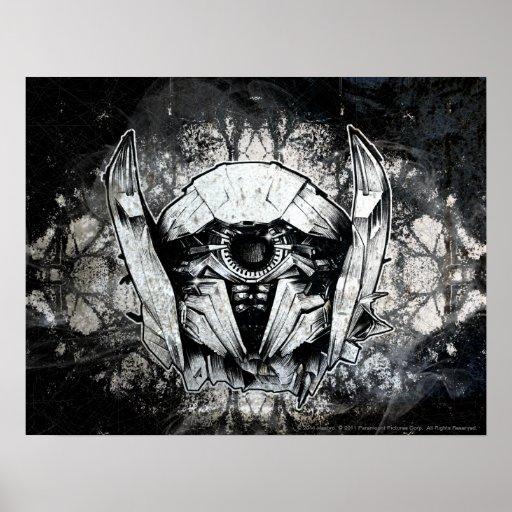 Line Art Poster : Shockwave headshot line art poster zazzle