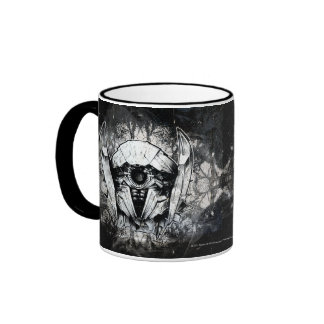 Shockwave Headshot Line Art Ringer Mug