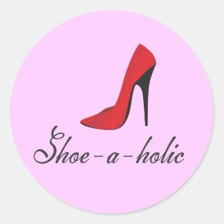 Shoe-a-holic Classic Round Sticker