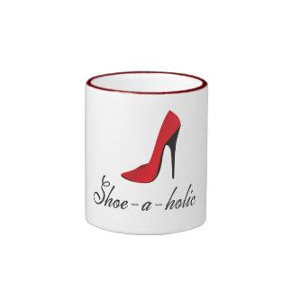 Shoe-a-holic Ringer Coffee Mug