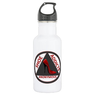 Shoe Addicts Anonymous Water Bottle