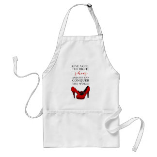 Shoe-aholic, Give a girl the right shoes. Adult Apron