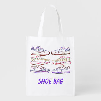 Shoe Bag Re-usable Grocery Tote Reusable Grocery Bags