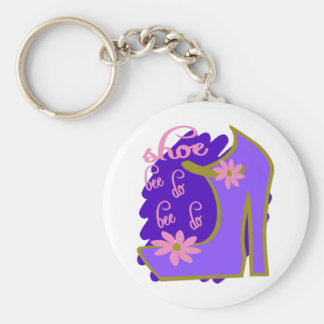 Shoe Bee Do Bee Do With Shoe And Jagged Background Basic Round Button Keychain