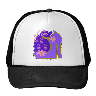 Shoe Bee Do Bee Do With Shoe And Jagged Background Trucker Hat