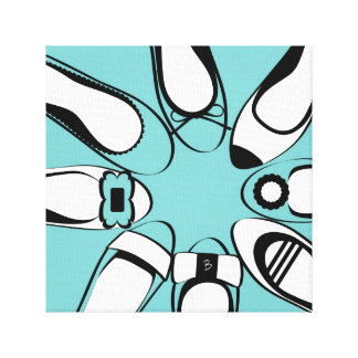 Shoe Best Friends Wrapped Canvas - blue Gallery Wrap Canvas