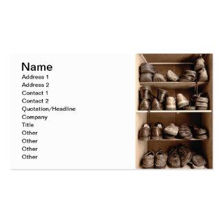 Shoe box business card