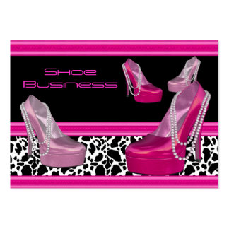 Shoe Business Card Black Bright Pink