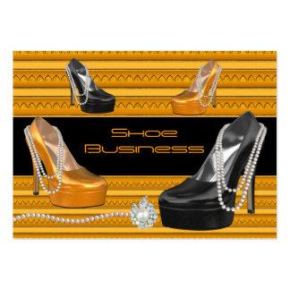 Shoe Business Card Black Gold
