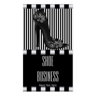 Shoe Business Card Elegant Art Deco Black White