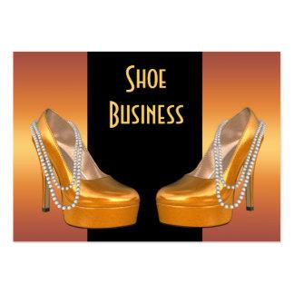 Shoe Business Card Gold Black