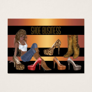 Shoe Business Card Gold Black