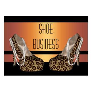 Shoe Business Card Gold Black Animal Print 2