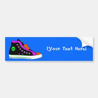 shoe car bumper sticker