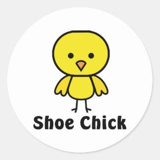 Shoe Chick Classic Round Sticker