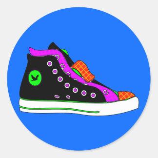 shoe classic round sticker