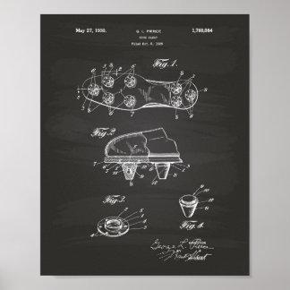Shoe Cleat 1930 Patent Art Chalkboard Poster