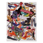 Shoe Collage Poster