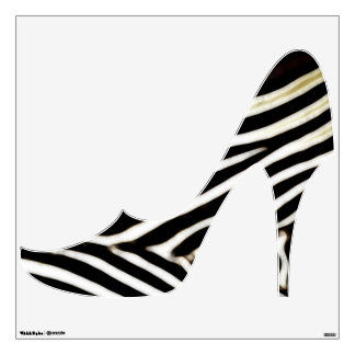 Shoe Crazy Wall Decor- Black/White2 Wall Decal