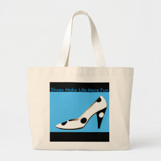 Shoe design tote bag