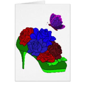 Shoe garden card