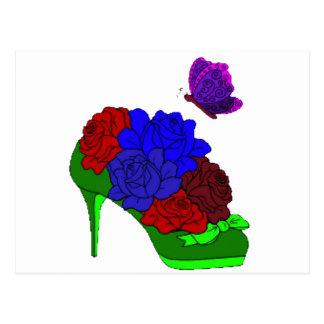 Shoe garden postcard