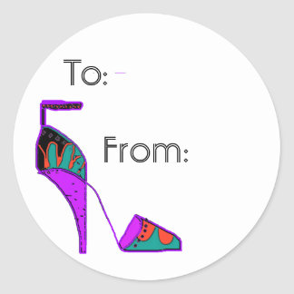shoe gift tag