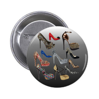 Shoe High Heels Collage Customize Pinback Buttons