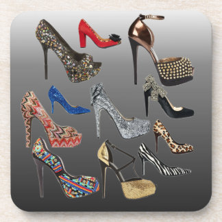 Shoe High Heels Collage Customize Coasters