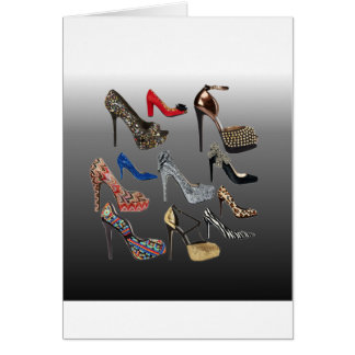 Shoe High Heels Collage Customize Greeting Card