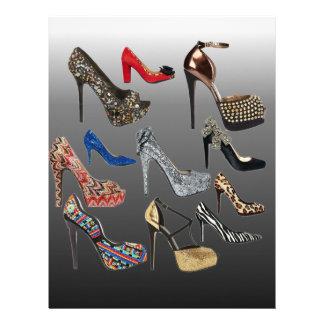 Shoe High Heels Collage Customize Letterhead