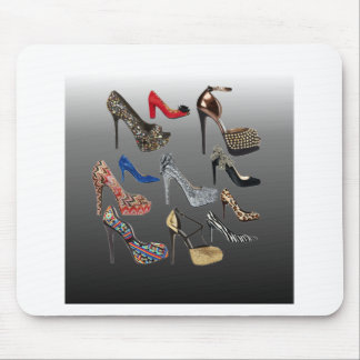 Shoe High Heels Collage Customize Mousepad