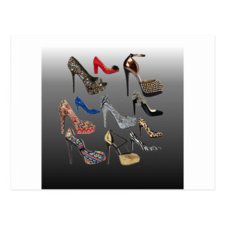 Shoe High Heels Collage Customize Postcard