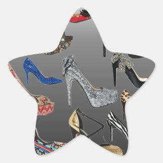 Shoe High Heels Collage Customize Star Sticker