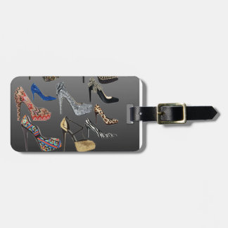 Shoe High Heels Collage Customize Travel Bag Tag