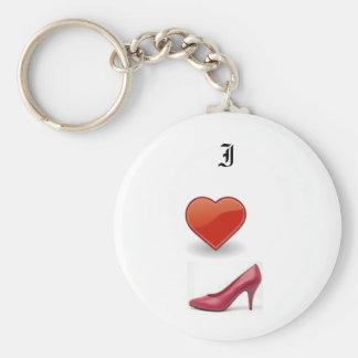 Shoe Love Basic Round Button Keychain