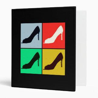 Shoe Love Fashion Pumps Vinyl Binder
