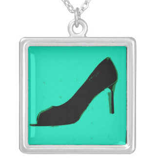 Shoe Love Fashion Pumps Silver Plated Necklace