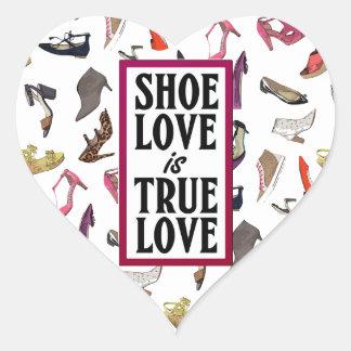 Shoe Love is True Love heart sticker