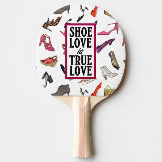 Shoe Love is True Love Ping Pong Paddle