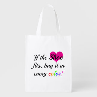 Shoe Lover Shopping Tote Reusable Grocery Bag