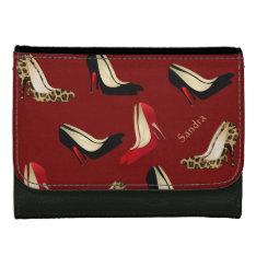 Shoe Lovers Fashion Custom Wallets at Zazzle