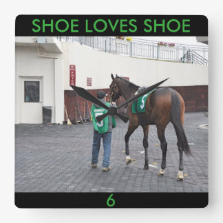 Shoe Loves Shoe FTS Square Wall Clock
