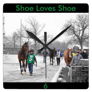 Shoe Loves Shoe Square Wall Clock