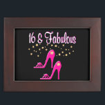 "SHOE LOVING 16 YEAR OLD BIRTHDAY GIRL KEEPSAKE BOX<br><div class=""desc"">This glitzy 16 year old will love to celebrate turning 16 with gorgeous pink Shoe Lover Happy 16th birthday design on a terrific selection of Tees, Mugs, Jewelry, and Gifts. Surprise your glamorous 16 year old Birthday Girl with a unique and chic 16th birthday gift that will be cherished every...</div>"