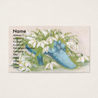 Shoe of Snowdrops Victorian Trade Card